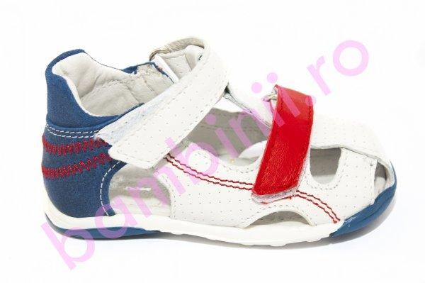 Sandale copii Mario alb albastru rosu 18-26