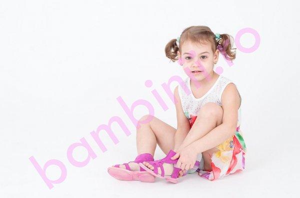 Sandale copii Sara roz