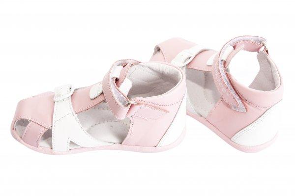 Sandale copii de vara hokide 231 roz alb 19-24