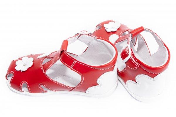 Sandale copii de vara hokide 77 rosu alb 18-24