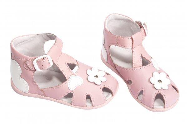 Sandale copii de vara hokide 77 roz alb 18-24