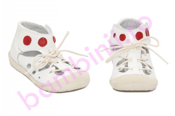 Sandale copii flexibile baby fox 211401 alb 17-22
