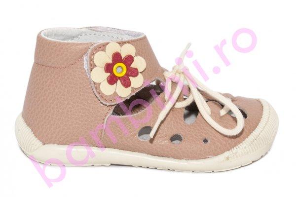 Sandale copii flexibile piele 211401 roz box 17-22