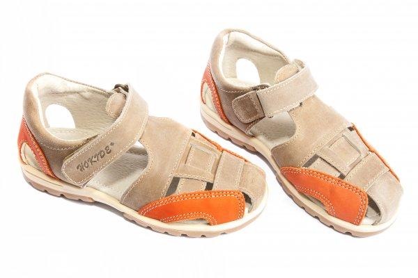 Sandale copii hokide 109 bej port 26-30