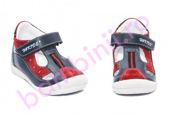 Sandale copii hokide 139 blu rosu 18-24