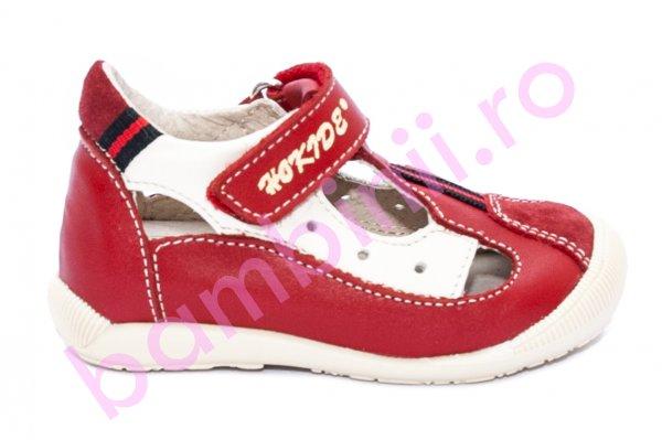 Sandale copii hokide 139 rosu bej 18-25