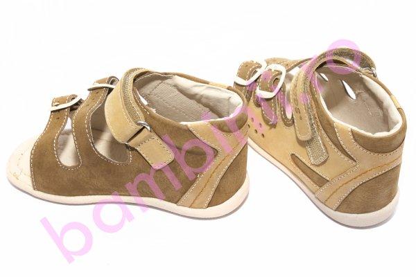 Sandale copii hokide 255 maro bej 17-24