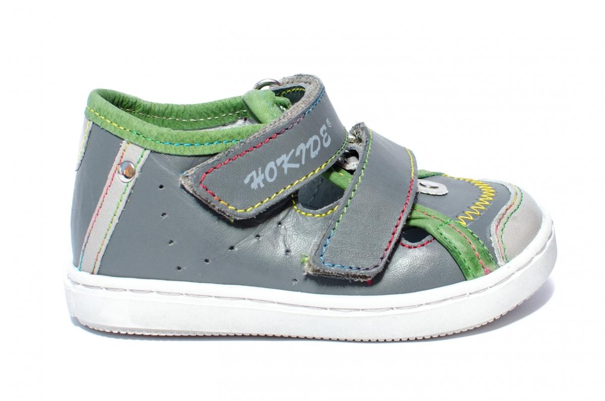 Sandale copii hokide 233 gri verde 18-25
