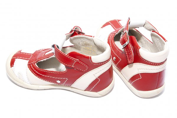 Sandale copii hokide 306 rosu alb 19-25