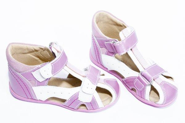 Sandale copii hokide 311 alb roz 18-25