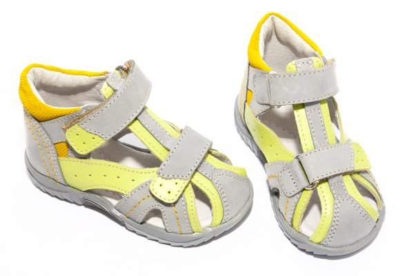 Sandale copii hokide 311 gri verde 18-25