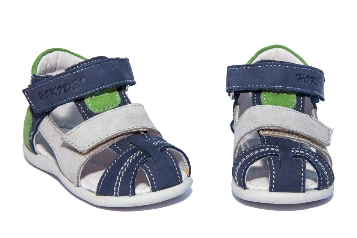 Sandalute copii hokide 405 blu gri verde 18-27