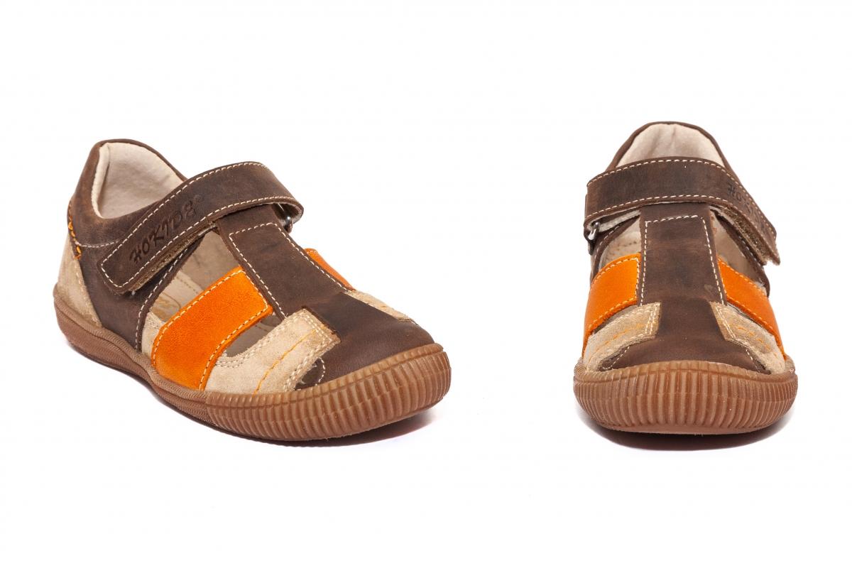 Sandale copii hokide 422 maro port 26-30