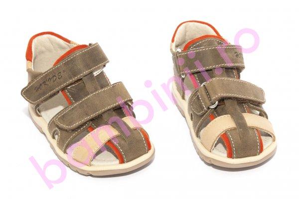 Sandale copii hokide picior lat 357 maro 22-32