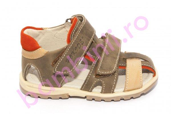 Sandale copii hokide picior lat 357 maro 22-27