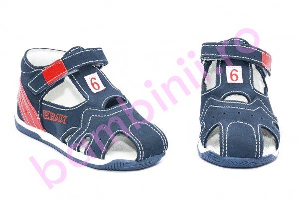 Sandale copii melania 810 blu portocaliu 19-25