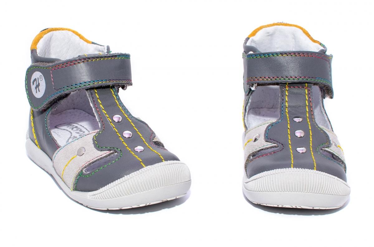 Sandale copii ortopedice hokide 273 gri galben 18-24