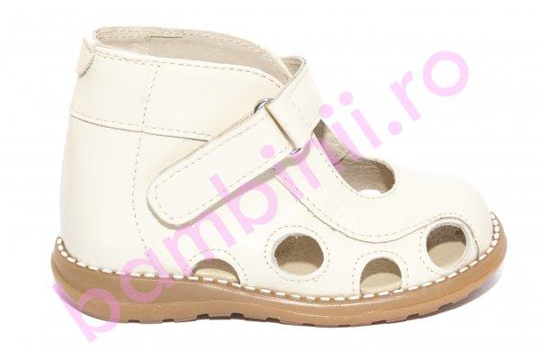 Sandale copii picior lat gros pufos 550 bej arici 18-25