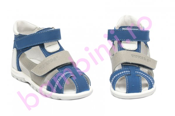 Sandale copii picior lat hokide 405 albastru gri 18-27