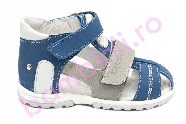 Sandale copii picior lat hokide 405 albastru gri 18-32