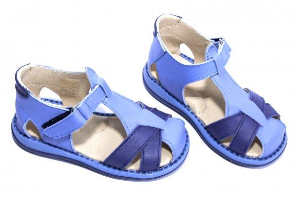 Sandale copii piele 346 gri blumarin 18-25