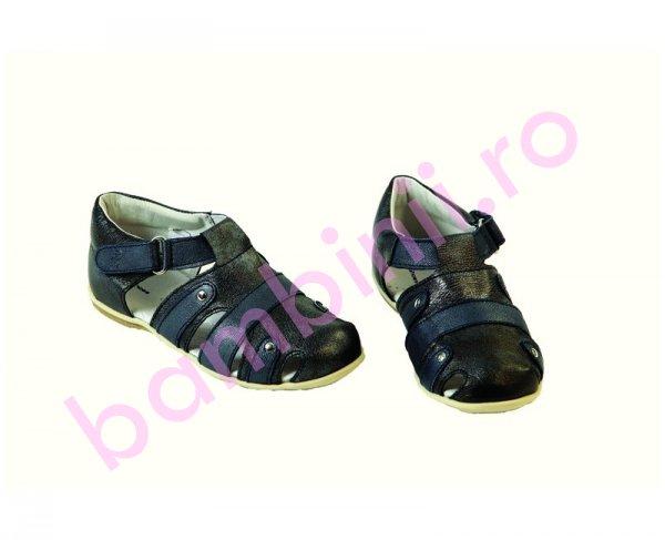 Sandalute copii piele Pantera blu