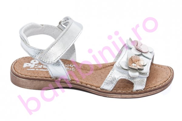 Sandale copii pj shoes Ana argintiu 26-36