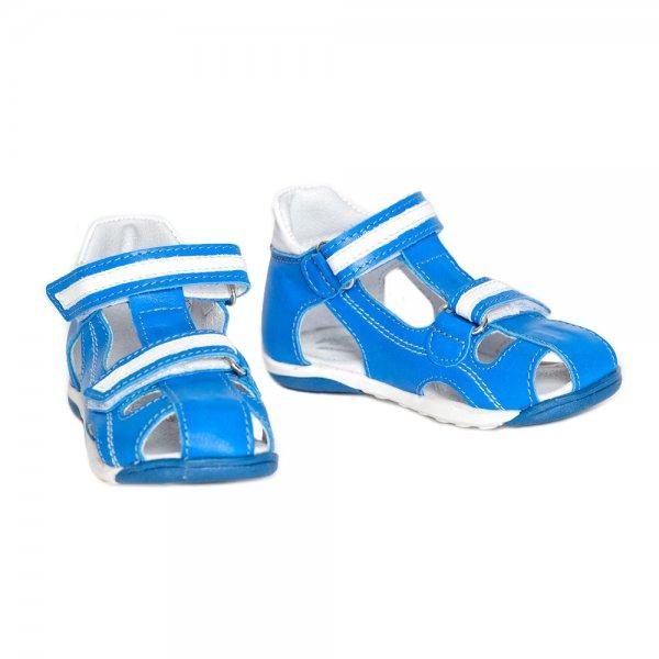 Sandale copii pj shoes Mario albastru alb 20-26