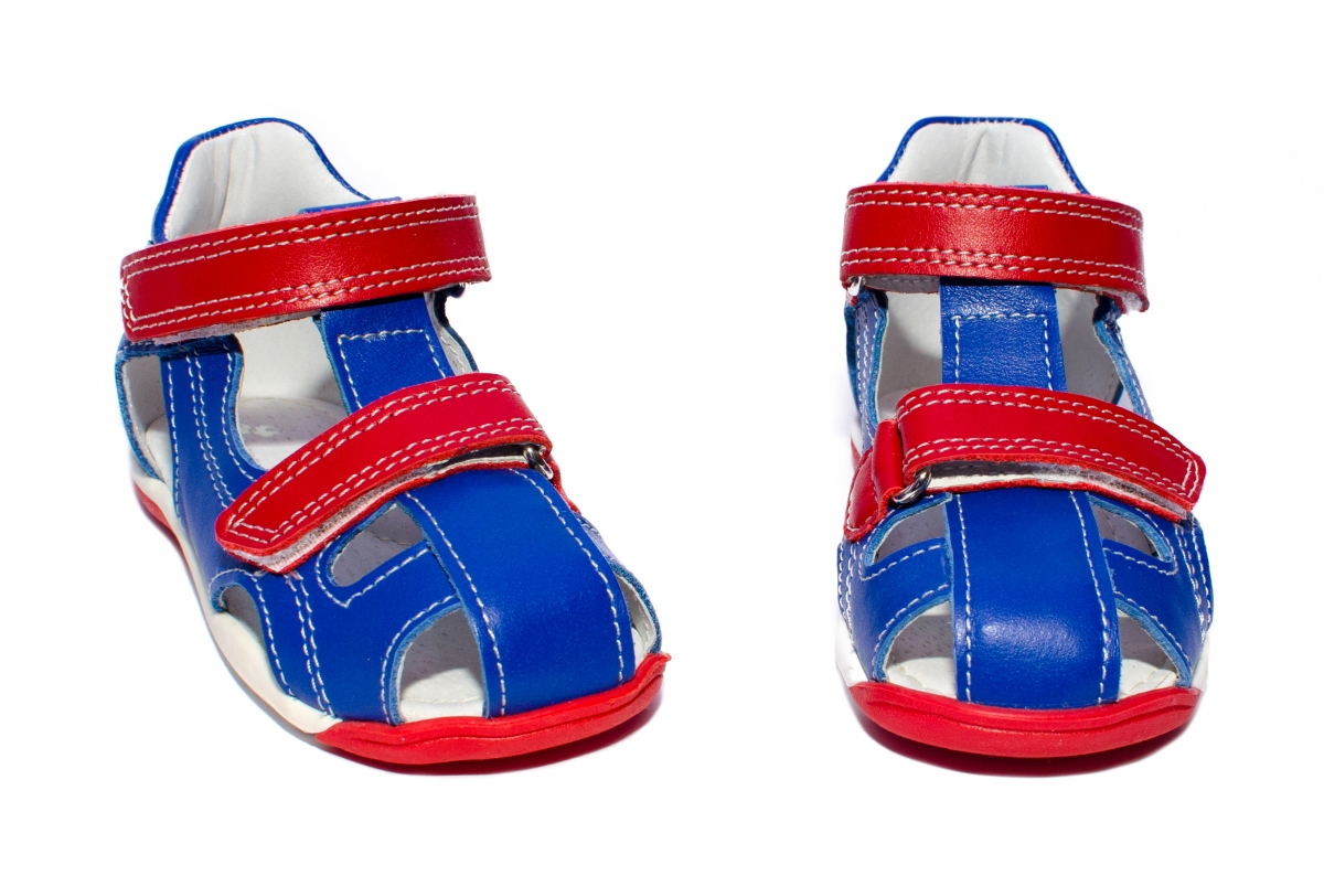 Sandale copii pj shoes Mario blu rosu 18-26