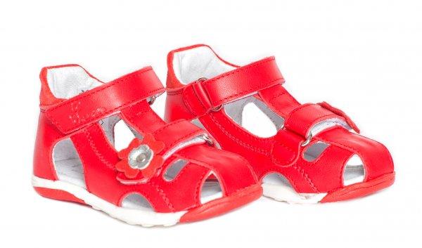 Sandale copii pj shoes Mario rosu 20-26