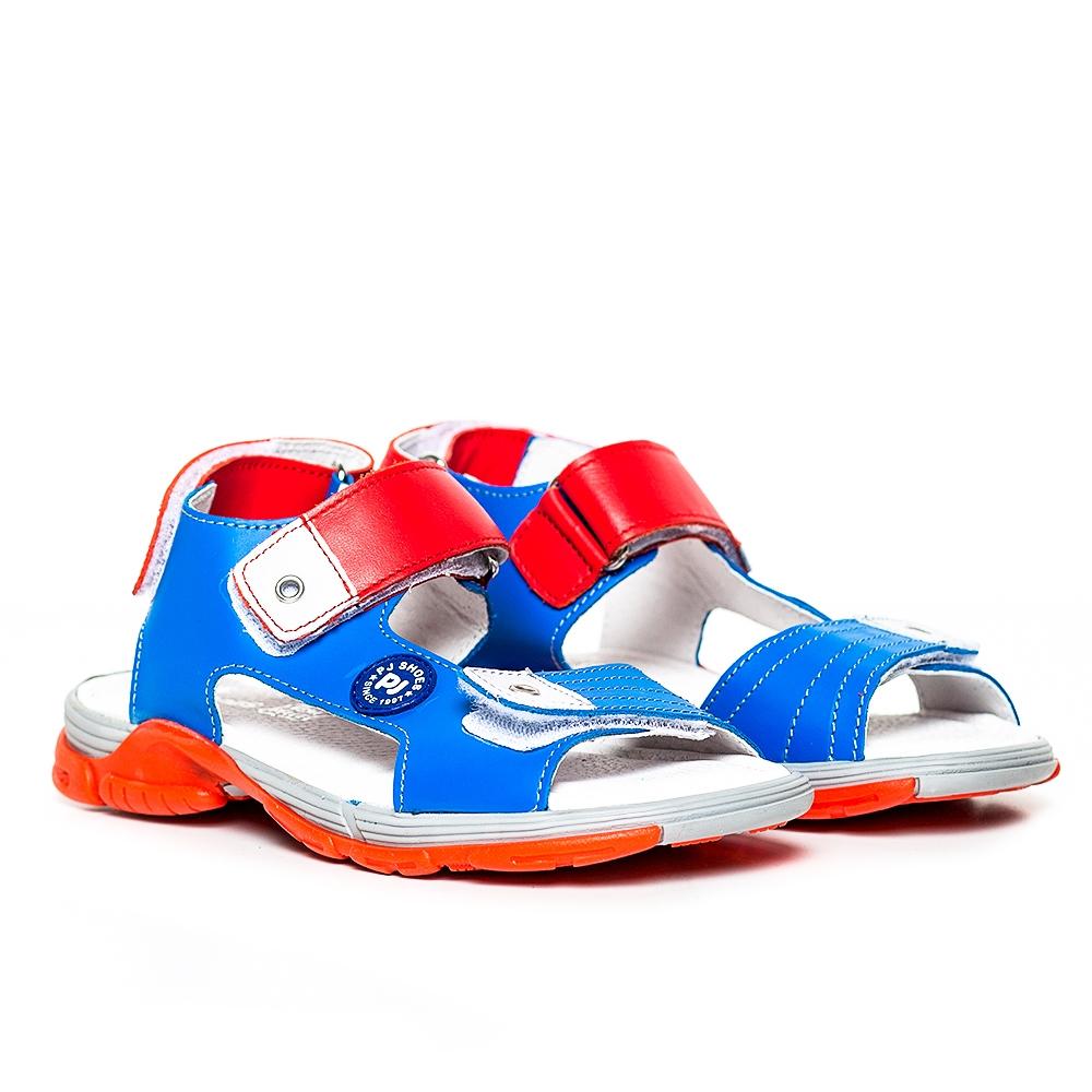 Sandale copii pj shoes Roy albastru rosu 27-35