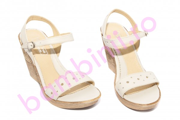 Sandale dama cu platforma 272 bej 36-40