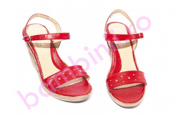 Sandale dama cu platforma 272 rosu 36-40