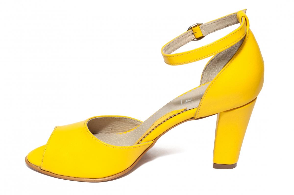 Sandale dama cu toc 952 galben 34-40