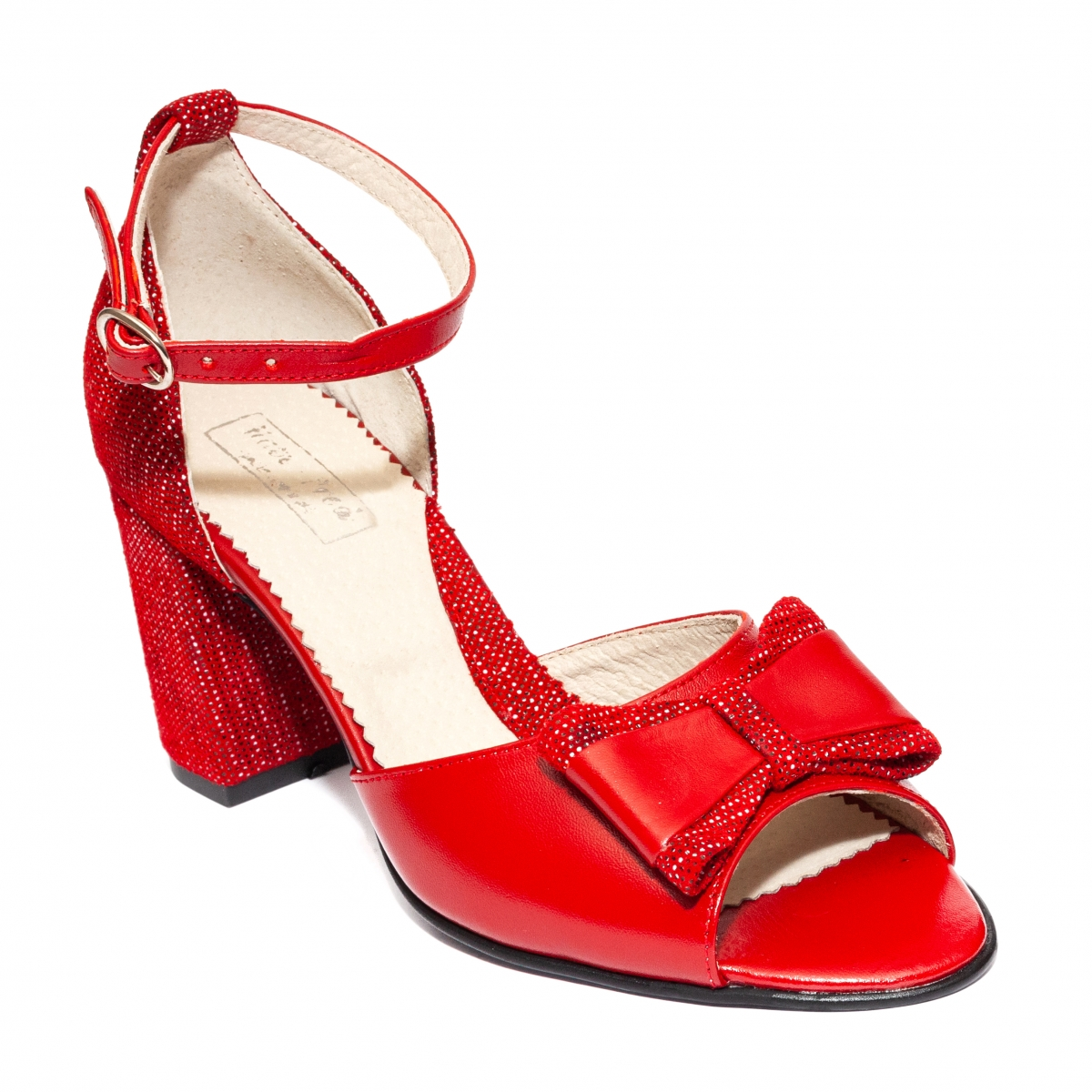 Sandale dama cu toc 952 rosu pipit 34-40