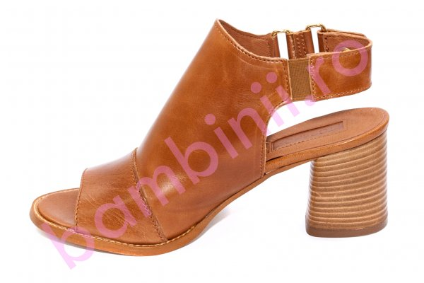 Sandale dama cu toc gros 1443 maro 35-42