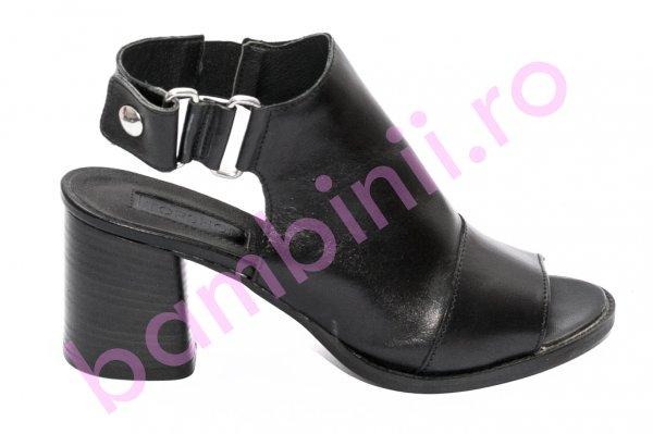 Sandale dama cu toc gros 1443 negru 35-42