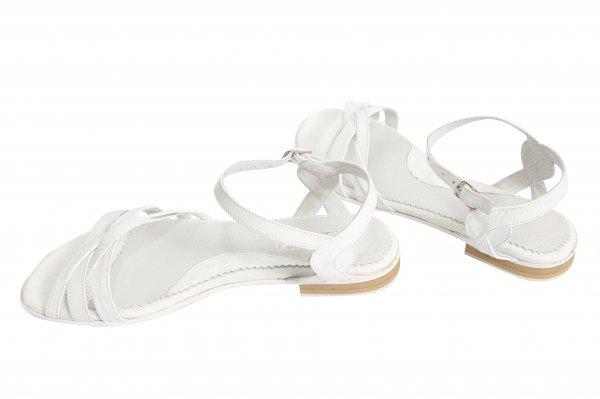 Sandale dama piele 121.8 alb lac 34-41