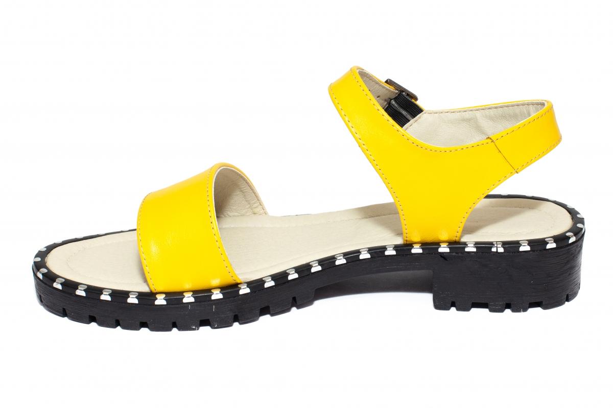 Sandale dama piele 1805 galben 35-41