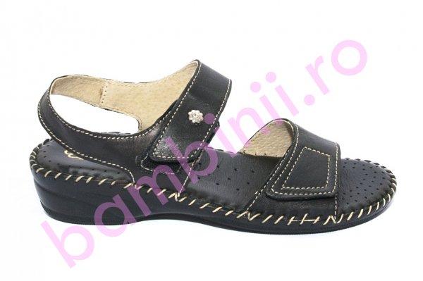 Sandale dama piele Glamourella 7284 negru 35-41