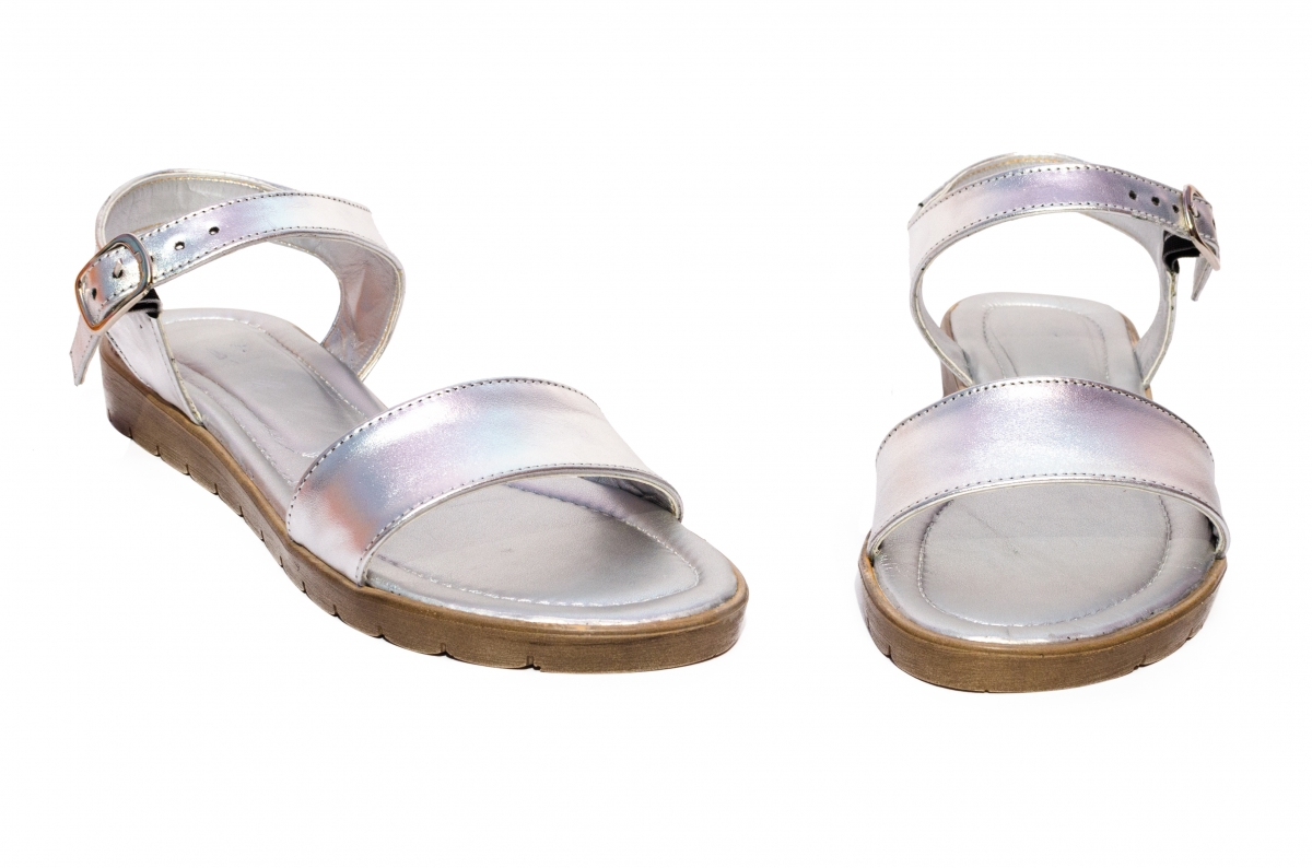 Sandale dama piele naturala 222 argintiu 36-41