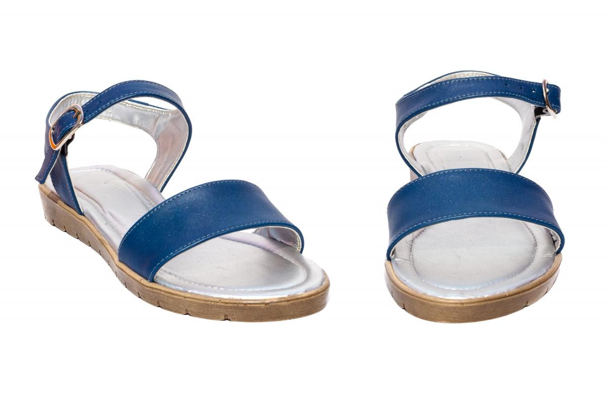 Sandale dama piele naturala 222 blu 36-41