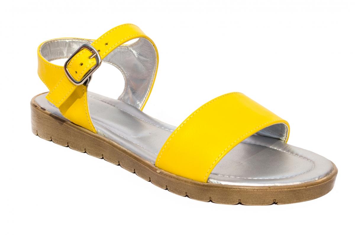 Sandale dama piele naturala 222 galben 36-41