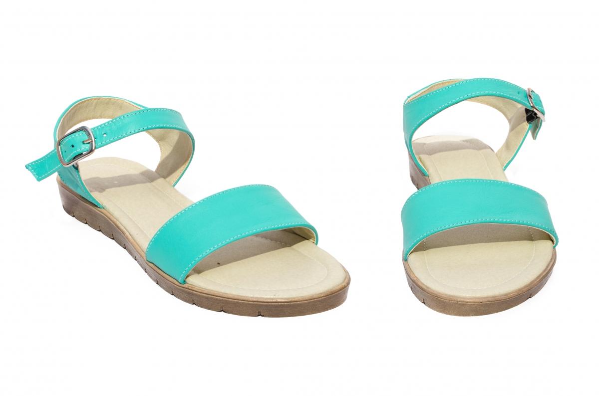 Sandale dama piele naturala 222 turcoaz 36-41