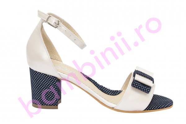 Sandale dama piele naturala 860 bej blu pipit 34-40