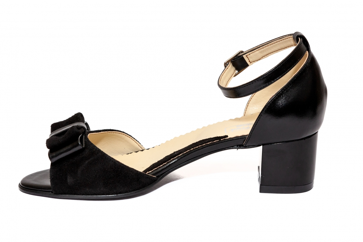 Sandale dama piele naturala 860 negru 34-40