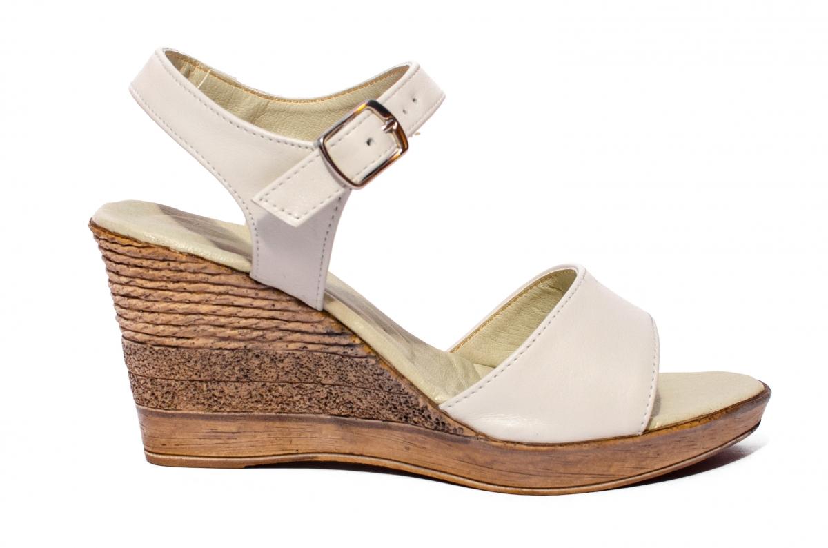 Sandale dama platforma 8cm Oana bej 34-40