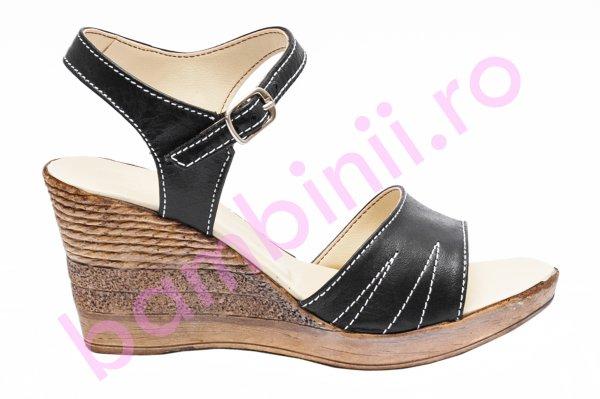 Sandale dama platforma Oana negru 34-40