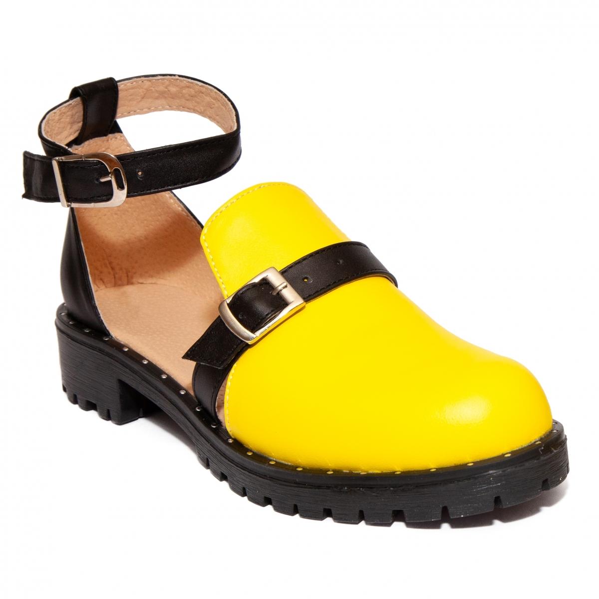 Sandale dama piele 1803 Cika rosu negru 35-40