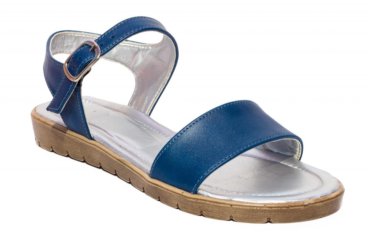 Sandale domnisoare piele naturala 222 argintiu 36-41